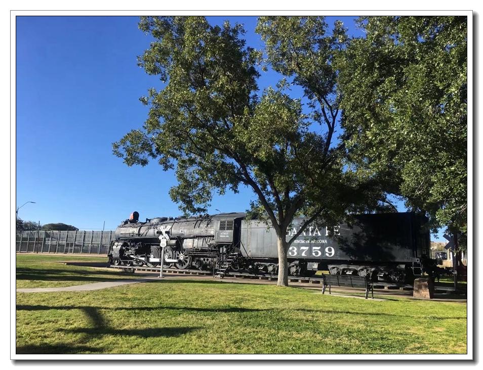 博物馆对面的旧火车