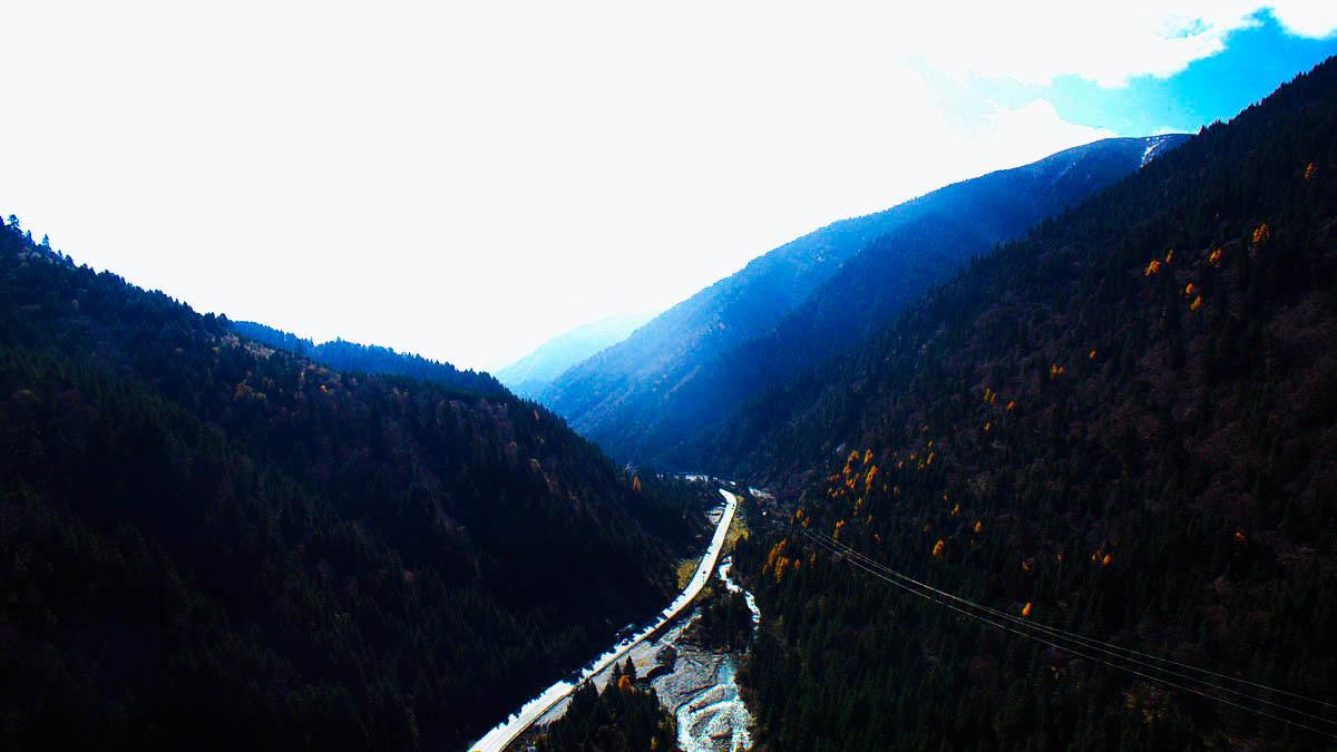 【红叶季】航拍米亚罗峡谷