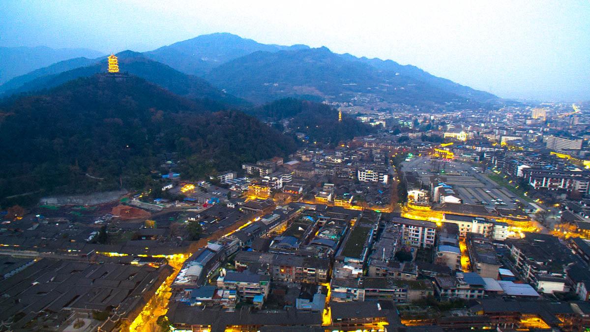 【新年新貌】俯瞰灌县老城