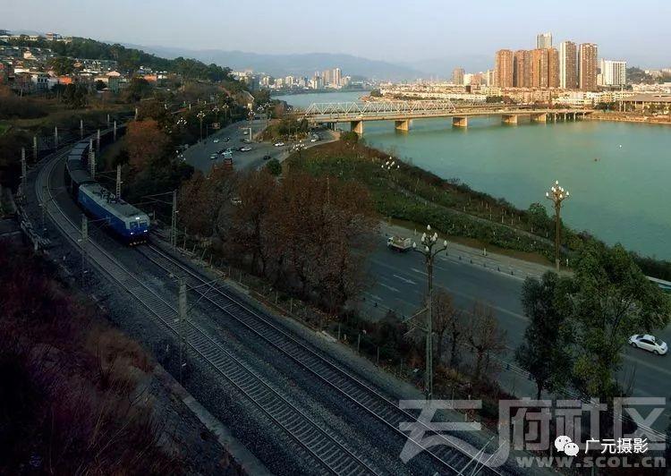宝成铁路,嘉陵江,广元老城