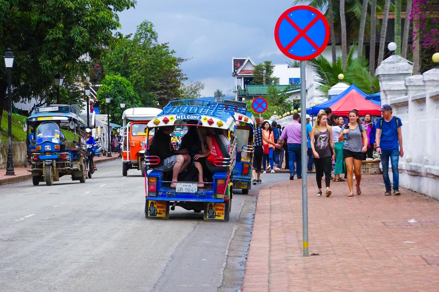 琅勃拉邦洋人街扫街