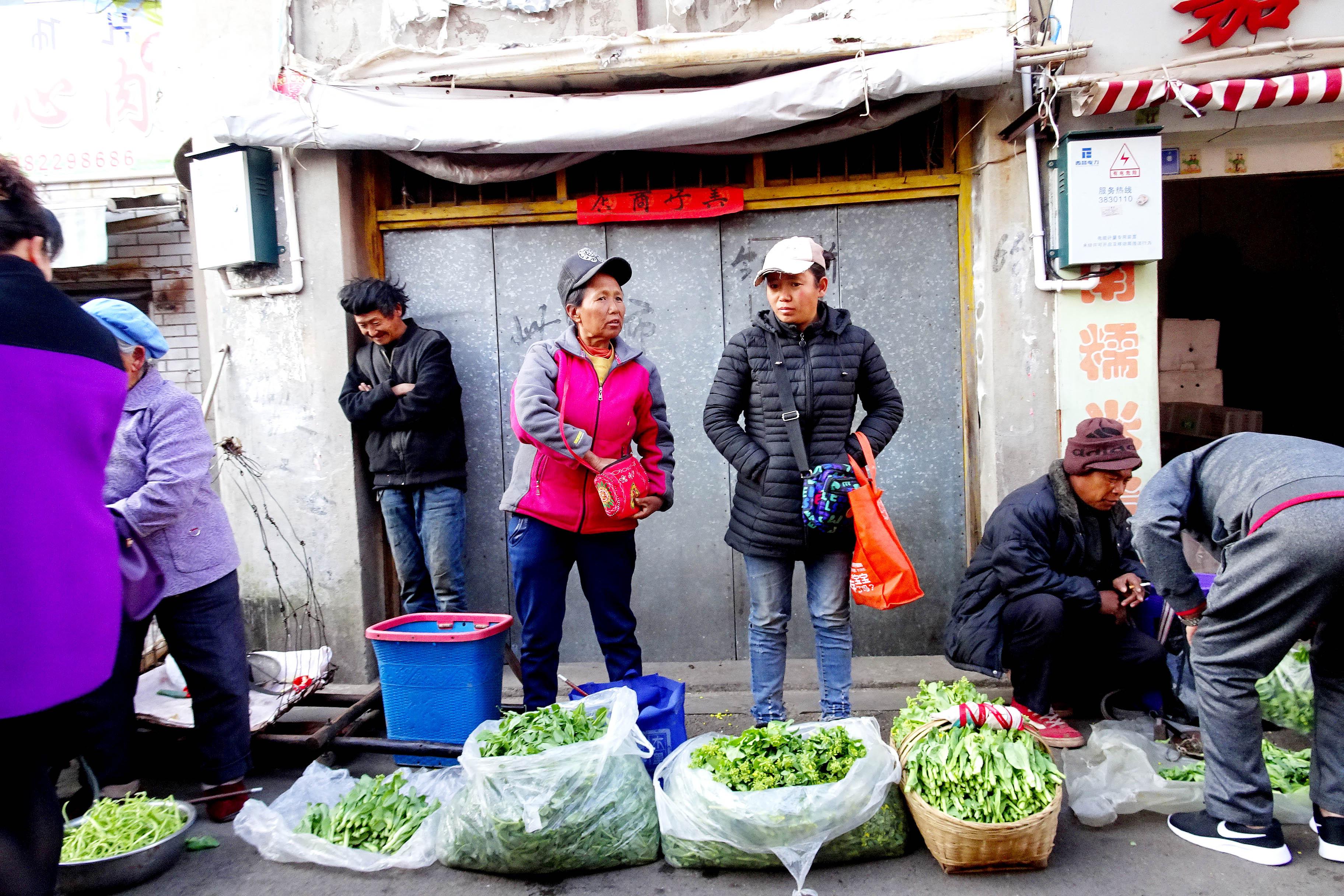 西昌古城的农村集市