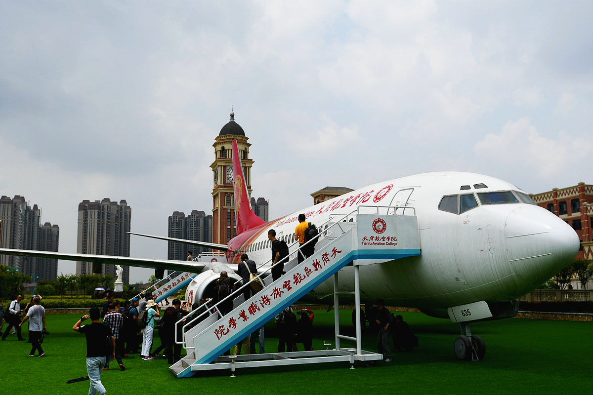 空客飞机起飞前的姿态