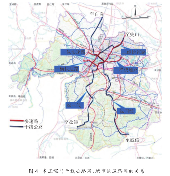本工程与干线公路网、城市快速路网的关系