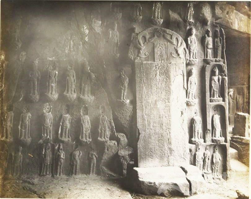11 广元 千佛崖 1914.3.30.  Chine, 1914. Kouang-yuan [Guangyuan].JPG