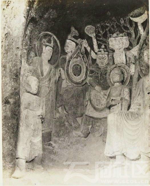 12 广元 千佛崖 1914.3.30. Chine, 1914. Kouang-yuan [Guangyuan].JPG