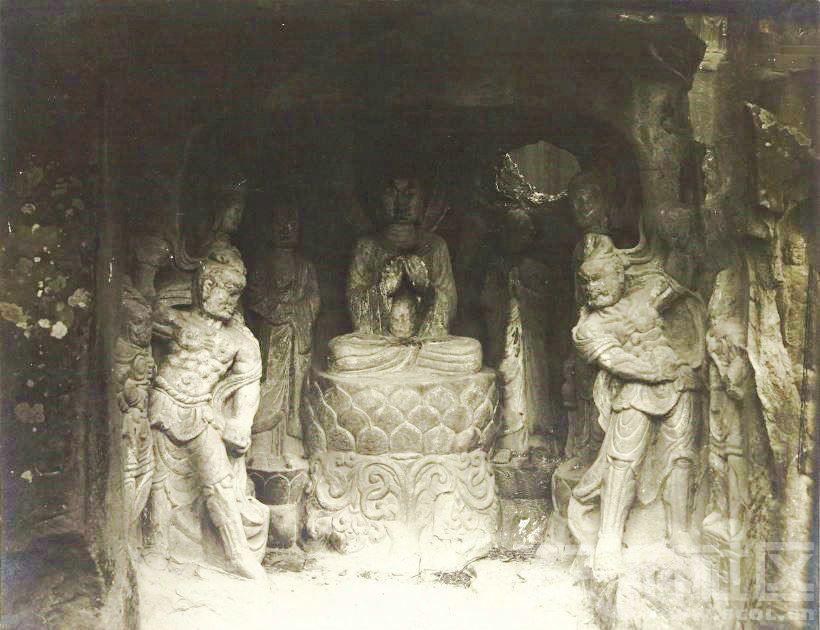 13 广元 千佛崖 1914.3.30. Chine, 1914. Kouang-yuan [Guangyuan].JPG