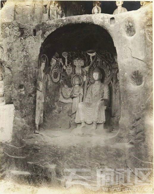14 广元 千佛崖 1914.3.30.  Chine, 1914. Kouang-yuan [Guangyuan].JPG