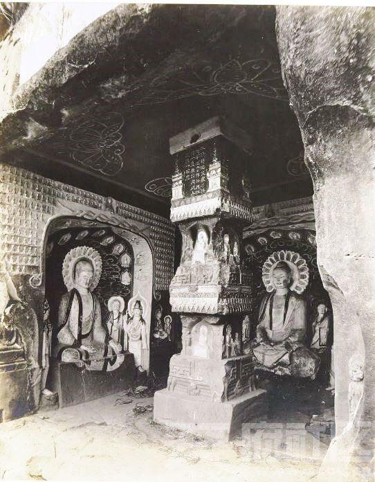 16 广元 千佛崖 1914.3.30.  Chine, 1914. Kouang-yuan [Guangyuan].JPG