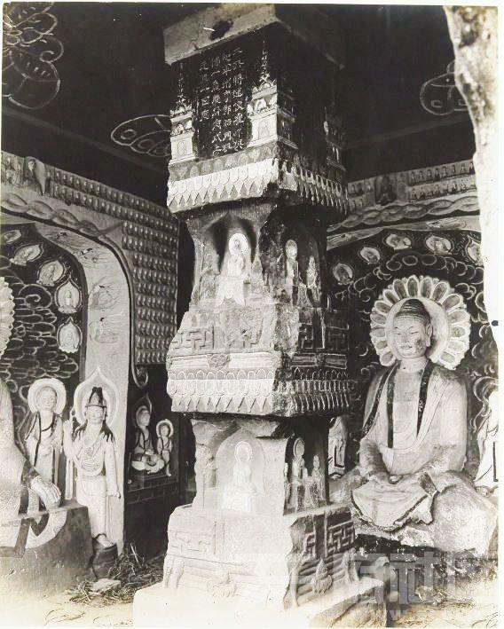 17 广元 千佛崖 1914.3.30.  Chine, 1914. Kouang-yuan [Guangyuan].JPG