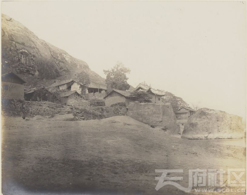 21 广元 皇泽寺 1914.3.30.  Chine, 1914. Kouang-yuan [Guangyuan].JPG