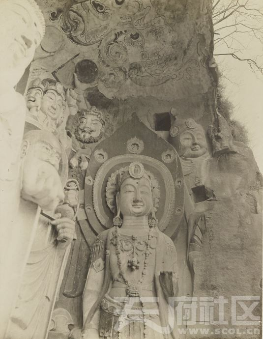 18 广元 皇泽寺 1914.3.30.  Chine, 1914. Kouang-yuan [Guangyuan].JPG