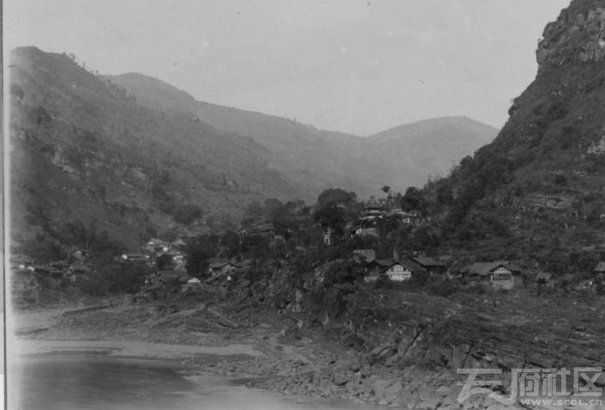 35 乐山 金口河(原名,现在的金河)边贸镇 1915-1925.JPG