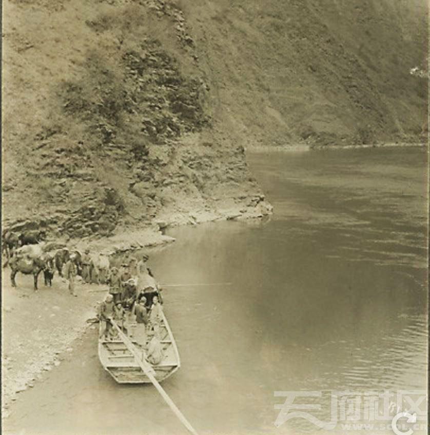 江油关 涪江渡口 1925..JPG