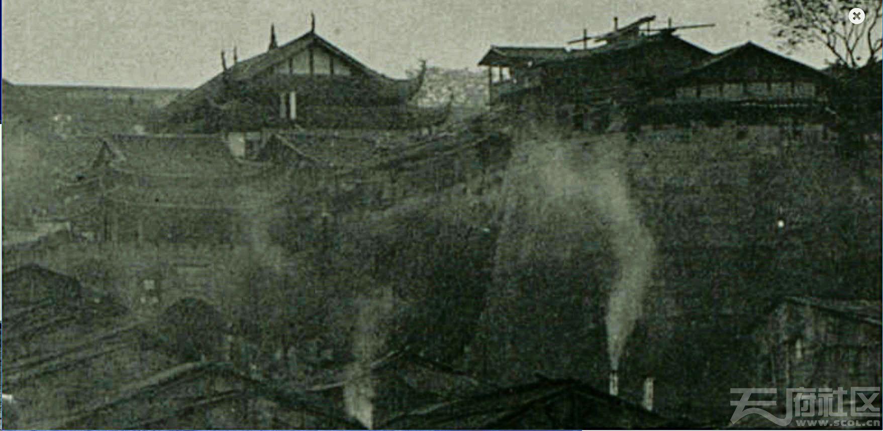 6 朝天门 双城门 城墙 1909.4. 张伯林摄.JPG