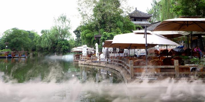 临时兴起.下午品茗黄龙溪老茶馆.