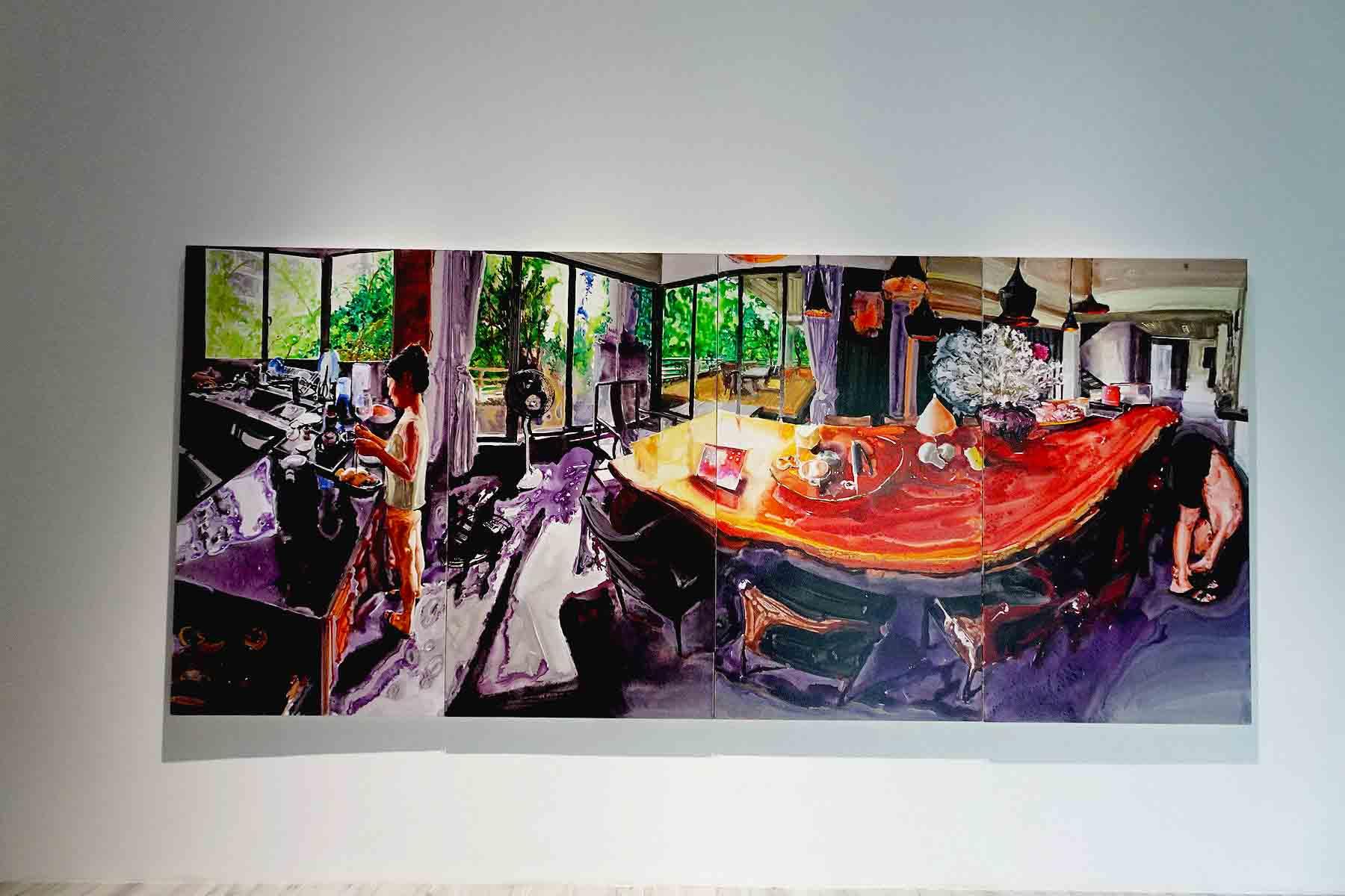 美术展-中国家庭
