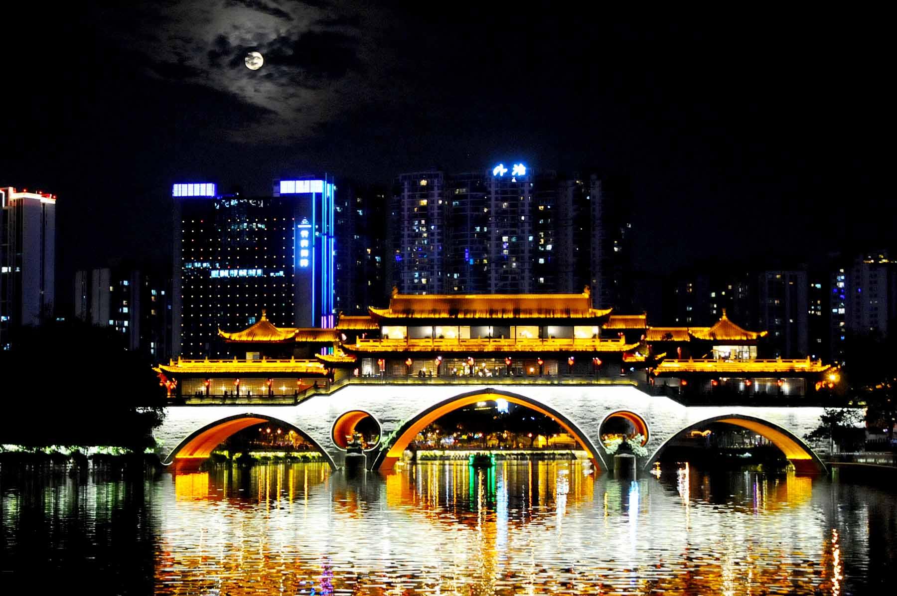 中秋之夜-廊桥晓月