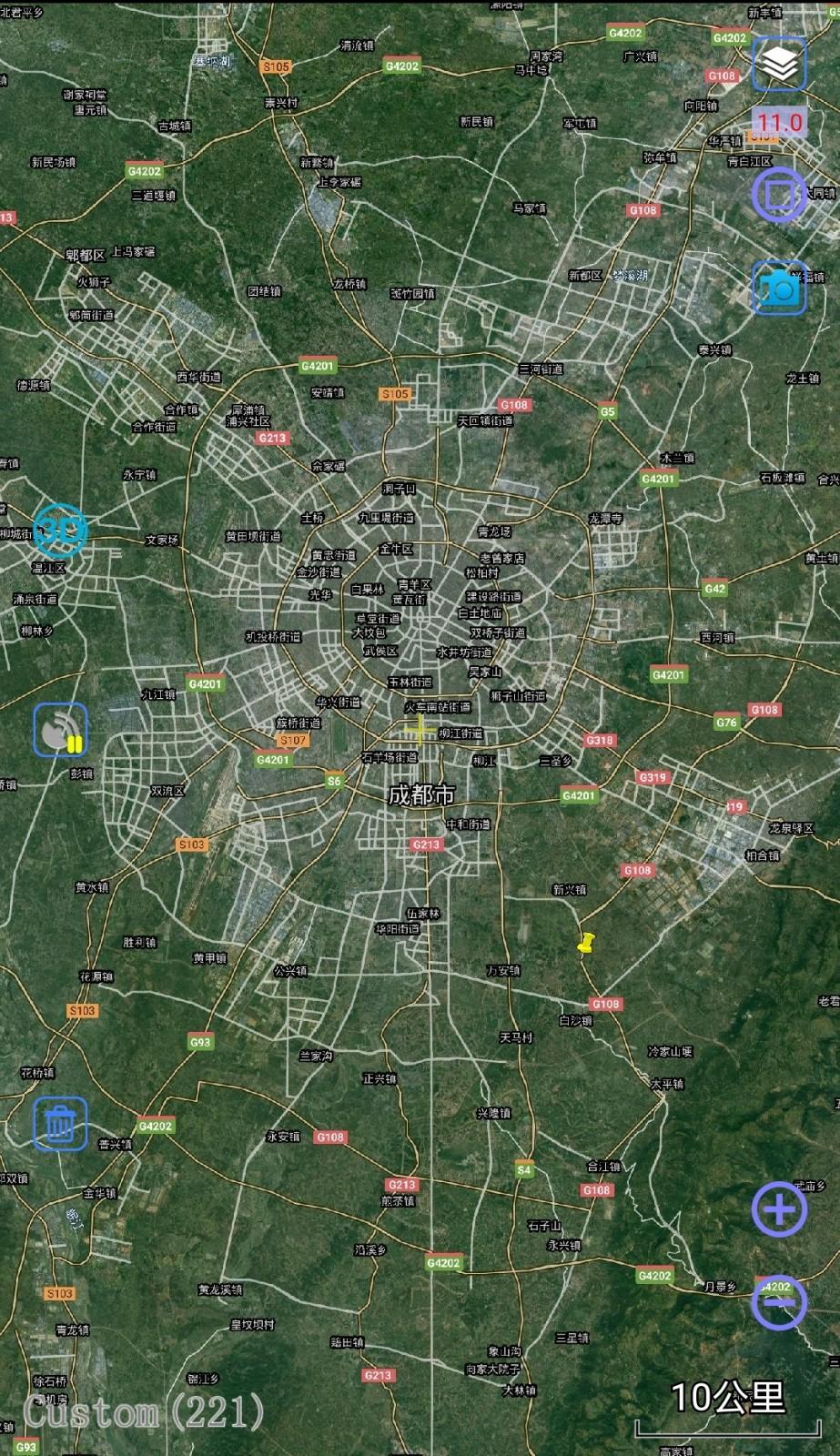 从四川省部分城市最新卫星图看数据可信度