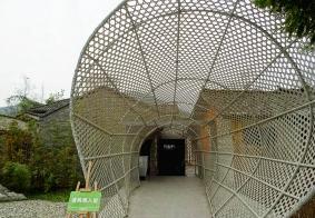 冬月欣赏竹艺村的竹编博物馆