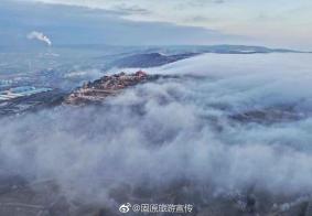 宁夏的冬季也烟雨江南般的美景——西吉火石寨!