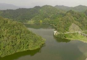 俯瞰莲花湖水库
