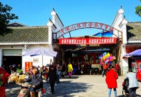 青城山镇的农贸市场一偶