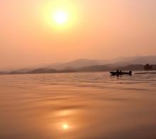 三岔湖日落