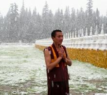 318国道上川西高原绝世美景---巴塘措普沟(8月鹅毛大雪