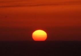 【大千世界】太平洋上看落日