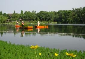 浣花溪湖的美姿