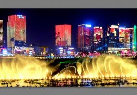 【  南 充 江 东 嘉 陵 江 上 音 乐 喷 泉  】………………